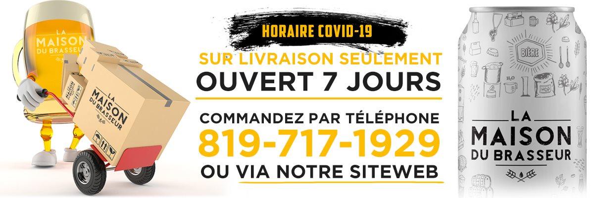 Horaire Covid-19 - Sur Livraison Seulement